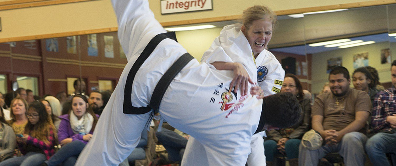 throw down demonstration self defense