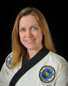 female tae kwon do teacher