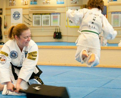 high jumping child tae kwon do