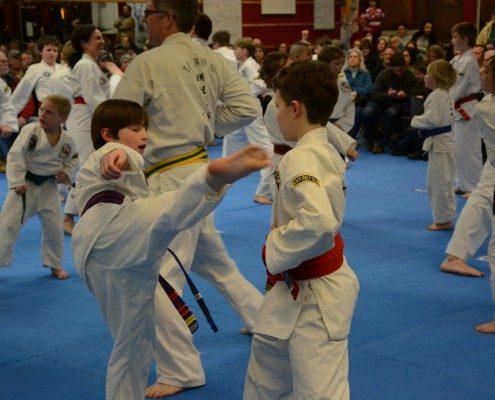 family classes self defense kick
