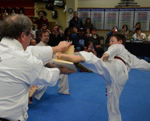 kicking board breaks in two left