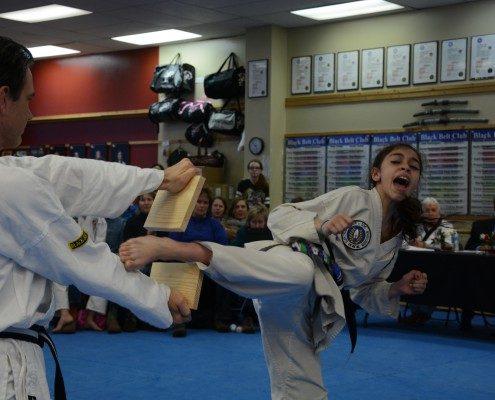 breaking board image shout martial arts