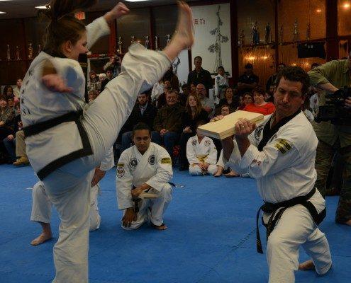 Wood block kick breaking