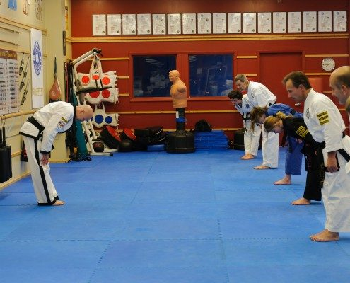 bowing traditional taekwondo