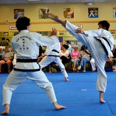 high elongated kick male martial