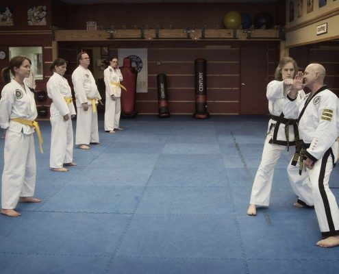 Instructor teaching tae kwon do Asheville NC