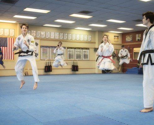 high jumps kicks teen martial arts program