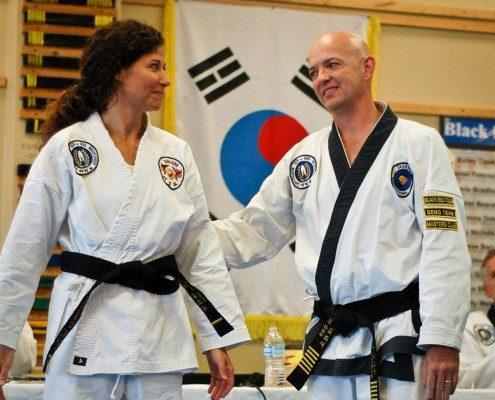 tae kwon do teacher master student