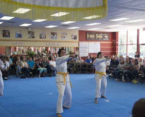 women doing martial arts at taekwondo dojang - Copy