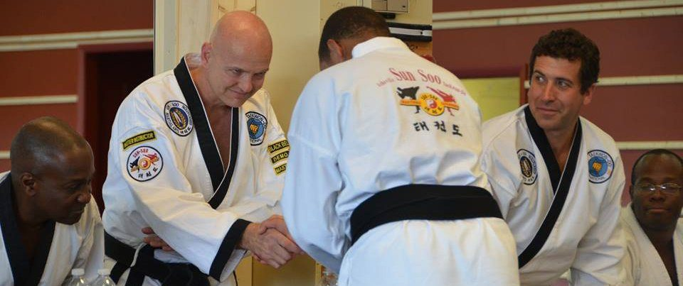 instructor student bowing