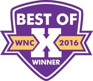 Mountain Xpress Best of WNC Winner 2016