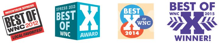 Best of WNC Mountain Xpress Logos Winner From 2012 To 2015