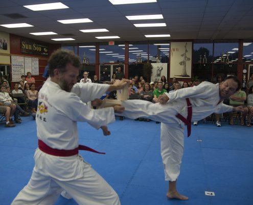 Adult male physical therapist asheville taekwondo student