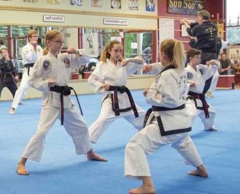 Amy-teaching-black-belt-forms