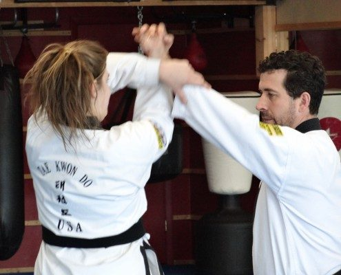 Men women adult martial arts form