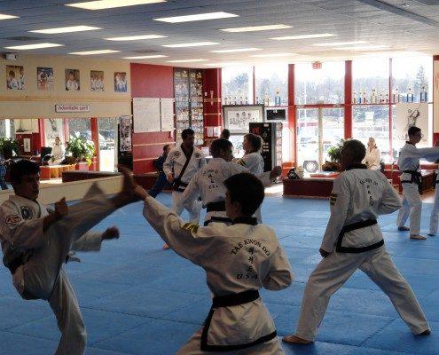 high kick Korean martial arts program