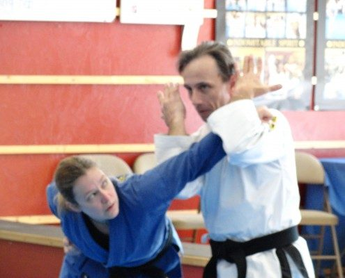 Male female sparring NC martial arts