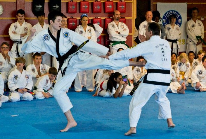sparring Korean karate