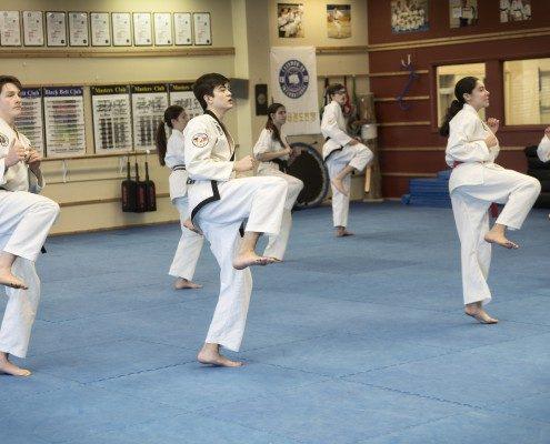 kick practice taekwondo Korean class