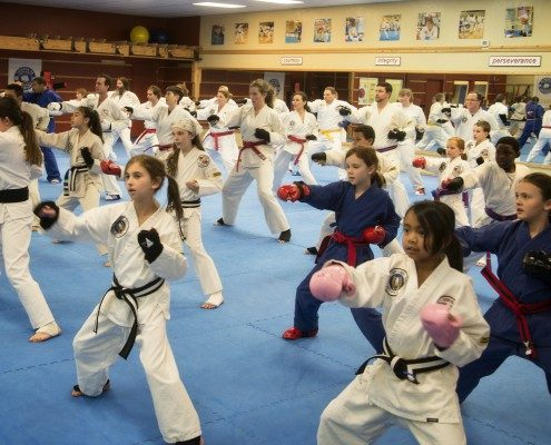 martial arts class mixed children