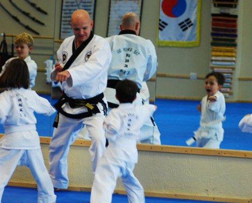 kids learning tae kwon do 3 years old
