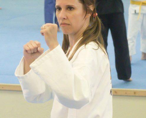 sparring taekwondo female mirror