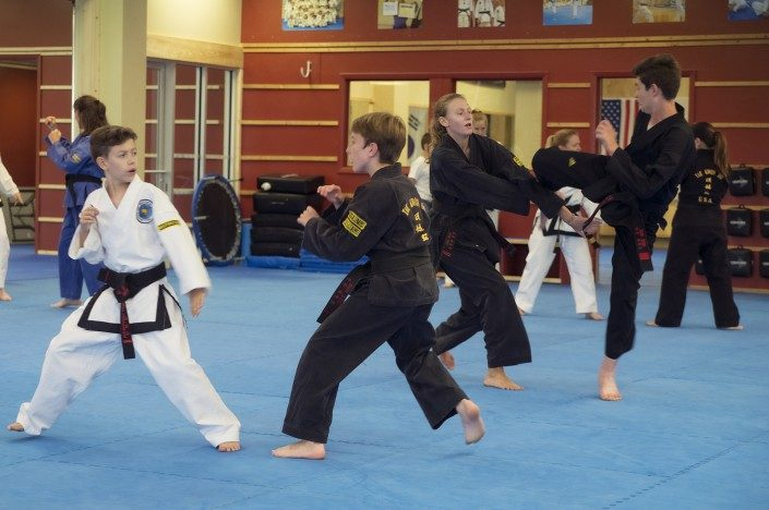 sparring adults children