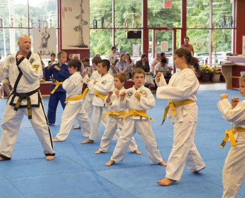 kids learning from master black belt