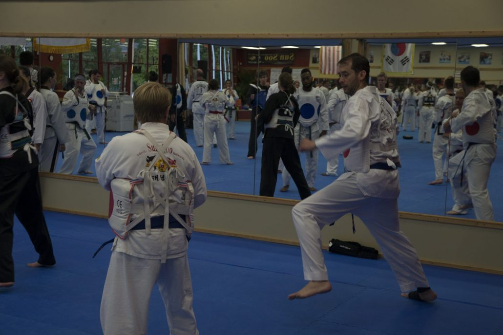 Martial Arts student training at TKDI Bootcamp