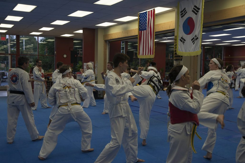 Tae Kwon do students of all ranks
