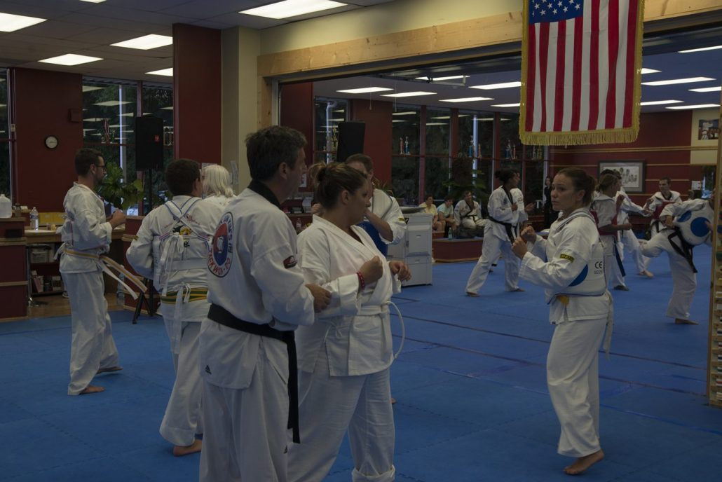 Students training at Asheville Sun Soo Bootcamp 2017