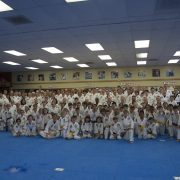Full School Photo Asheville Sun Soo Martial Arts Taekwondo Belt rank testing