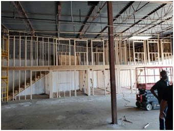 Photo of interior construction