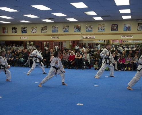 photo of taekwondo students testing for Black Belt ranks