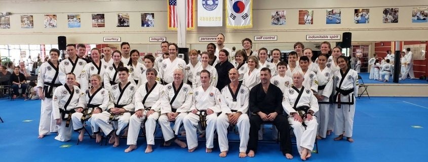 photo of taekwondo black belts