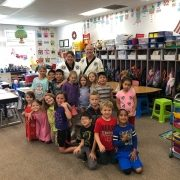 Grandmaster Morris and Ms Amy Vaughn's First Grade Class at Leicester Elementary