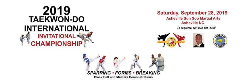 Image with information about 2019 Taekwon-do International Invitational Championship competition
