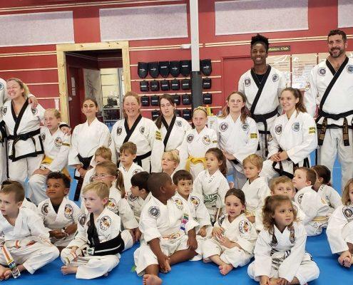 Preschool and Kindergarten Martial arts students