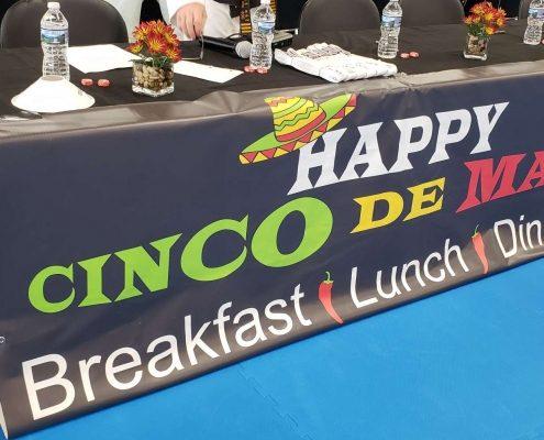 Happy Cinco de Mayo restaurant banner